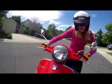 Vespa GTS 300 Super – Becky Gets a Scooter for her Birthday and Rides Solo for the first time
