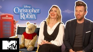 How To Do Winnie The Pooh's Voice | Disney's Christopher Robin Cast | MTV Movies