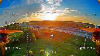 Training flight FPV QUAD, from the DVR
