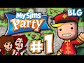 Mysims Party Gameplay wii Part 1 Rise Of Blugrpi