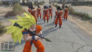GTA 5 Songoku Mod - Siêu Saiyan Dragon Ball Z xuất hiện trong GTA V
