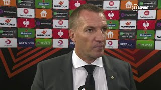 """""""The group is still wide open. Only two games have gone."""" Brendan Rodgers on Foxes' tough UEL start"""