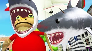 Feeding Shark Frogs to Giant Shark with a Blimp - Amazing Frog - Part 126 | Pungence