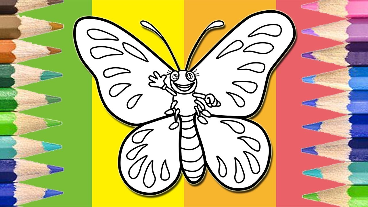 How to Draw and Color Butterfly Coloring Pages for Kids