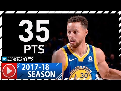 Stephen Curry Full Highlights vs Sixers (2017.11.18) - 35 Pts, 5 Ast, 5 Reb
