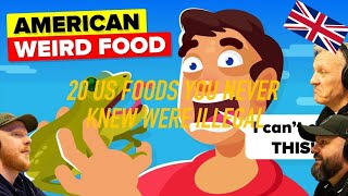 20 US Foods You Never Knew Were Illegal To Eat REACTION!! | OFFICE BLOKES REACT!!
