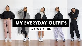 My Everyday Outfits | 5 Sporty Fits (pt. 2)