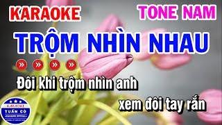 karaoke-trom-nhin-nhau-nhac-song-tone-nam-karaoke-tuan-co