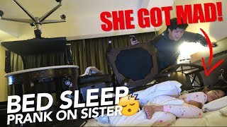THINGS AROUND BED PRANK ON SISTER | Ranz and Niana