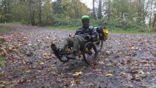 Recumbent Trikes on Lief Erikson Trail Portland