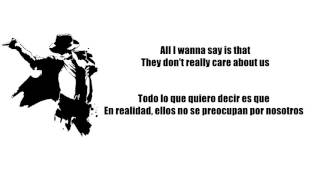 They Don´t Care About Us - Michael Jackson [Subtitulado]