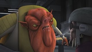 Star Wars Rebels - Ezra, Hondo & Chopper vs. Azmorigan [1080p]