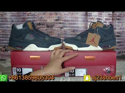 6ca972ecbe7fd3 Authentic Air Jordan 4 Levi s Denim First Look From aj23shoes.com