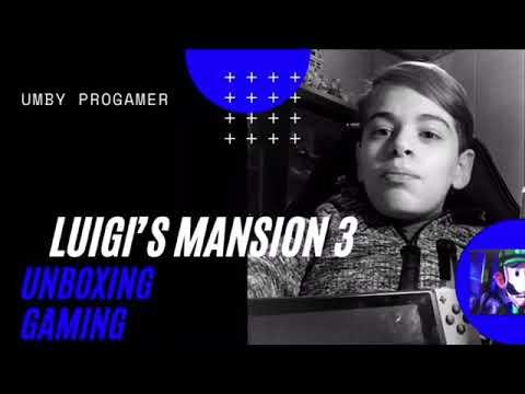 "Umber Progamer unboxing & gaming ""Luigi's Mansion 3"""