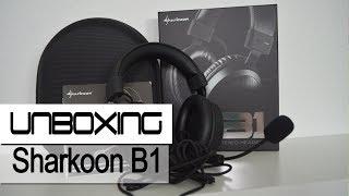 Sharkoon B1 Stereo-Headset ★ MG Unboxing ★ [HD] ★ German | Deutsch