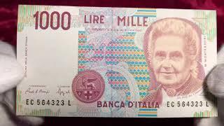 1000 Italian Lire Banknote