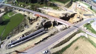Gradnja nadvoza in podvoza v Ljutomeru