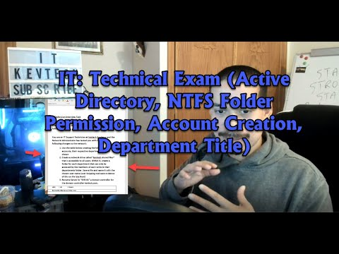 IT: Technical Exam (Active Directory, NTFS Folder Permission ...