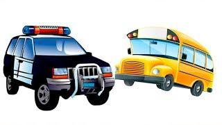 Мультики для малышей Автобус и Полицейская машина новая серия Мультфильм для детей