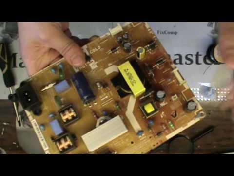 ХР №18 Моргает и выключается LED Телевизор Samsung  Не ремонт а сказка