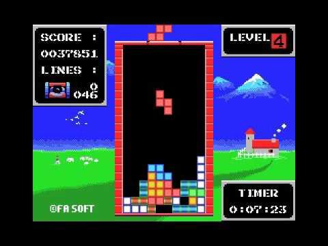 FA Tetris **longplay** (MSX, rom, 1989 FA Soft)