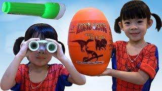 Săn Và Bóc Trứng Khủng Long - Dinosaur Surprise Eggs Opening ❤ AnAn ToysReview TV ❤