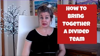 HOW TO BRING TOGETHER A DIVIDED TEAM