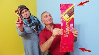TAM 61SANTİM Mega DEV Çikolatalı Gofret YAPTIK! Ülker ÇİKOLATALI Gofret NASIL Yapılır, GİANT Waf