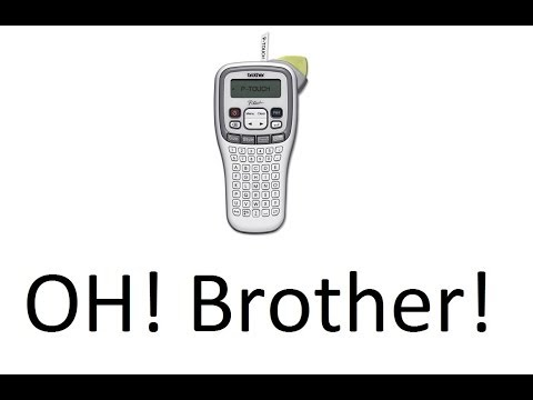 Brother PTouch PT-H100 Labeler Unboxing and... umm... review