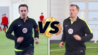 Neville v Carragher in the Referee Fitness Test!   The Referees Part 1