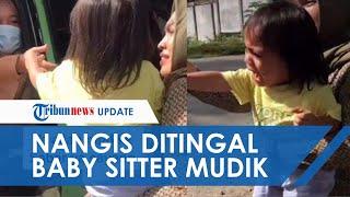 Viral Video Momen Seorang Bocah Nangis Histeris Ditinggal Baby Sitter Pulang Kampung