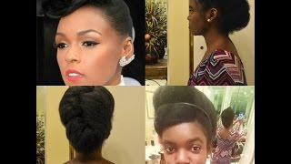 Mz Naty D: How to create a Janelle Monae Inspired Natural Hairstyle in less than 10 minutes!