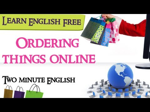 Ordering things online - English Conversation Lesson