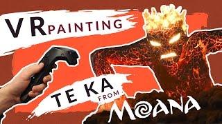 Painting Te Kã from MOANA in VR - TILTBRUSH + HTC VIVE