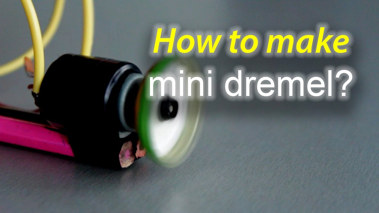 Как се прави мини Дремел? How to make mini Dremel?