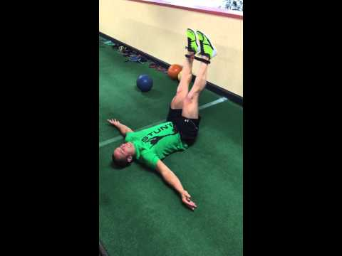 Leg Raise with Glute Activation
