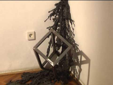 Vasrobbanás. Mosonyi Tamás kiállítása Baján, Bajai TV, 2014