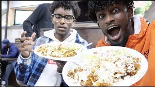 ARE WE REAL BROTHERS!?  MIDDLE EASTERN FOOD MUKBANG FT CHARC JR !!!