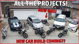 ALL the Projects We're Working on!! (NEW CAR BUILD?)