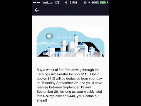 """Uber Offers Drivers """"FEE FREE"""" Driving - For a Price $$"""