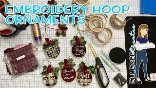 Make Your Own Embroidery Hoop Ornaments