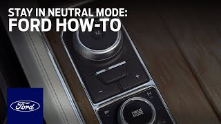 Rotary Gear Shift Dial with Stay in Neutral Mode | Ford How-To | Ford