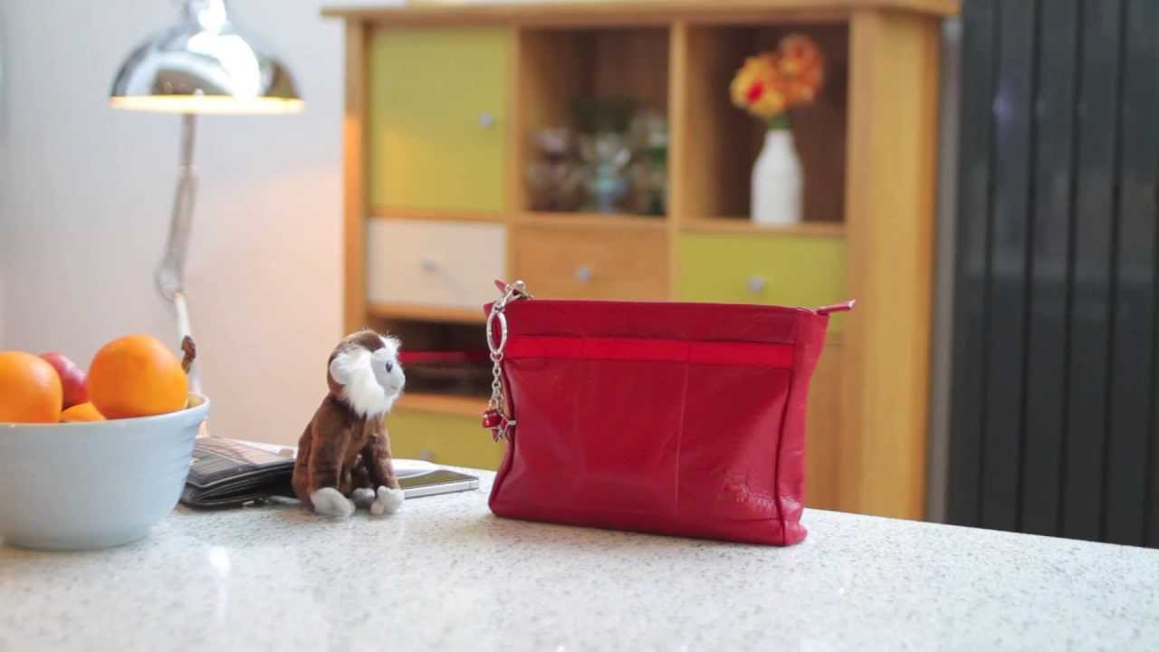 Handbag Organiser Bagpod in Red Leather by Reddog