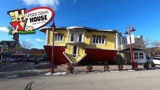 Exploring The UPSIDE DOWN HOUSE - Niagara falls