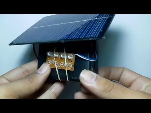 Como Hacer Una Lampara Solar  // How to Make a Sunlamp