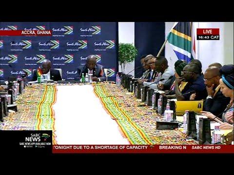 President Ramaphosa addresses the Ghana Business Council