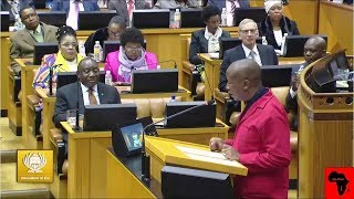 Watch EFF Julius Malema warning Cyril Ramaphosa during SONA 2019 Debate in Parliament  MY AFRICA welcomes all comments that are constructive, contribute to discussions in a meaningful manner and take stories forward. However, we will NOT condone the following: - Racism (including offensive comments based on ethnicity and nationality) - Sexism - Homophobia - Religious intolerance - Cyber bullying - Hate speech - Derogatory language - Comments inciting violence. We strive to make the YouTube (MY AFRICA) community a safe and welcoming space for all.