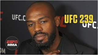Jon Jones Expects Rematch Vs. Thiago Santos   UFC 239   ESPN MMA
