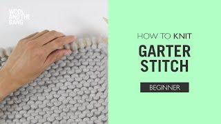 How To Knit: Garter Stitch