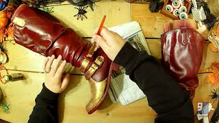 DIY Wonderful Woman Boots & Gauntlets